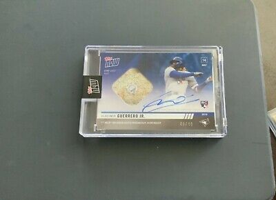 2019 Topps Now RC Vladimir Guerrero Jr On-Card AUTO Game-Used Base #/49 1st HR