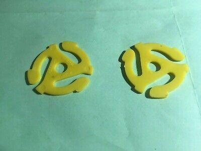 (7 Pack) Yellow Plastic 45 RPM 7 Inch Vinyl Record Adaptor. used - VG cond