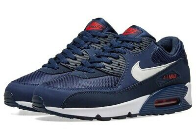 sports shoes b646e 47dd4 Nike Air Max 90 Essential Midnight Navy White Running AJ1285-403 Men s Size  9