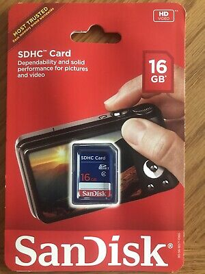 New SanDisk 16GB SDHC Class 4 SD Flash Memory Card Camera