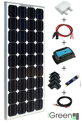 Kit panneau solaire 100W 12V camping-car complet iGreen (100 watts)