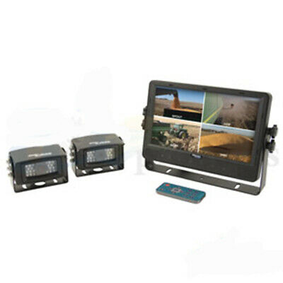 "CabCAM CCT9M2CQ Quad Video System 2 Cameras LCD Monitor 9"" Touch Screen"