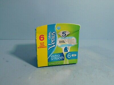 Gillette Venus Extra Smooth Refill Blades, 6 Cartridges  -Distressed Packaging