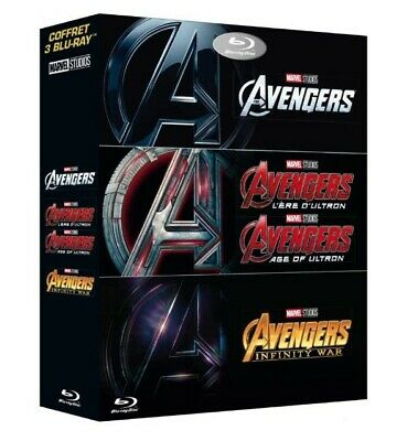 Avengers L'ère d'Ultron Infinity War Marvel Endgame Tv Film DVD BD Trilogie Pack