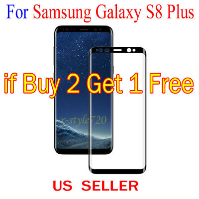 Full Cover Curved Clear Screen Protector Guard Film For Samsung Galaxy S8 Plus