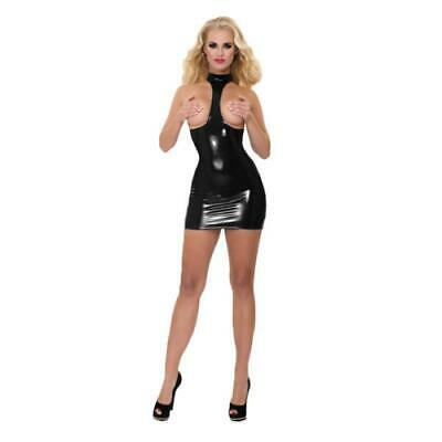 Sexy Damen Latexkleidung GP Datex Exposure Kleid mit Kragen Latex-Mieder Erotik