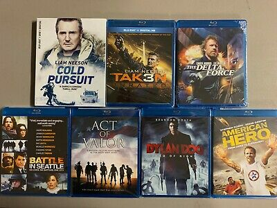 Cold Pursuit +Taken 3 + Delta Force + Dylan Dog + AOV Blu-ray lot New Free Ship