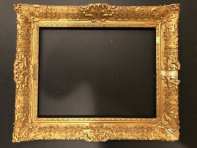 Antique 18x14 European Baroque Gold Gilt French Impressionist Picture Frame 19e