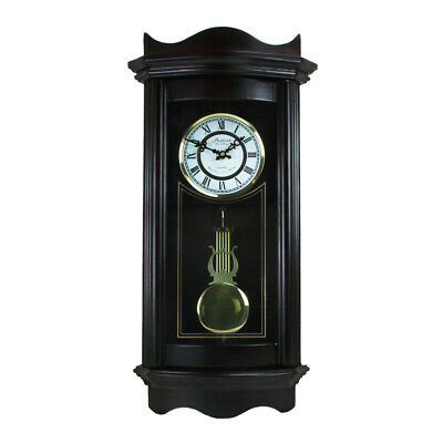 "Bedford Clock Collection Bed1248Chk Weathered Chocolate Cherry Wood 25"" Wall"