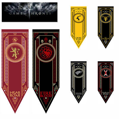 Game of Thrones House Stark Targaryen Banner Flag Wall Hanging Home Decor