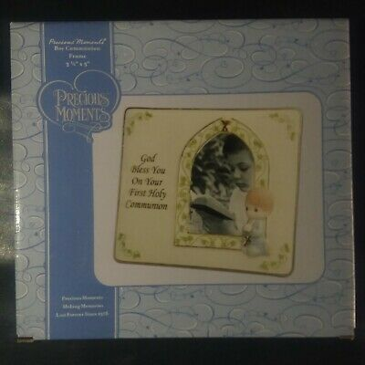 Precious Moments Boy's Picture Frame: God Bless You On Your First Holy Communion