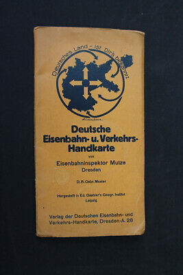 Old Map German Train Traffic Handkarte Drgm German Reich