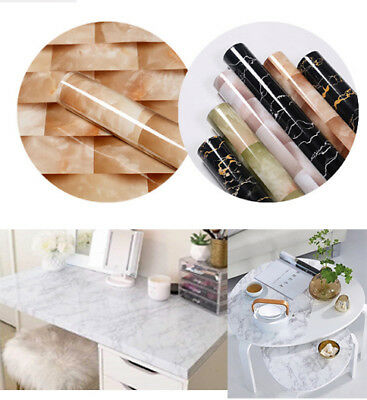 1 Roll Marble Contact Paper Self Adhesive PVC Material DIY Vinyl Wall Stickers