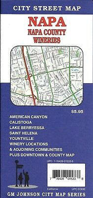 City Street Map of Napa & Napa County Wineries, California, by GMJ Maps