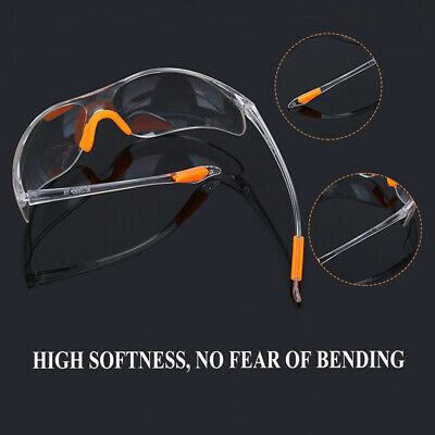 Compact Anti-impact Factory Lab Work Eye Protective Clear Safety Goggles Glasses