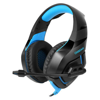 Stereo Surround Gaming Headset Headphone With Mic For PC PS4  One Laptop SA