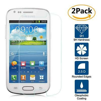 2 Pack Tempered Glass Film Screen Protector For Samsung Galaxy S3 mini i8190