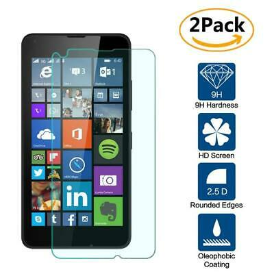 2 Pack Genuine Tempered Glass Film Screen Protector For Microsoft Lumia 640