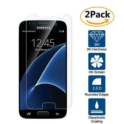2 Pack Genuine Tempered Glass Film Screen Protector For Samsung Galaxy S7