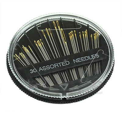 Nd_ 30Pcs Assorted Hand Sewing Needles Embroidery Mending Craft Quilt Sew Case