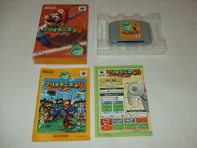 Mario Tennis 64 Boxed B with Manual Nintendo 64 N64 NTSC-J Japan import