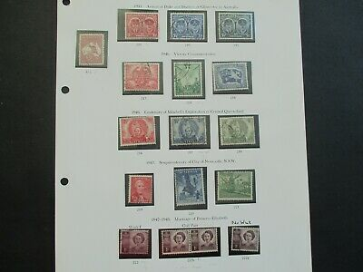 ESTATE: Australian Pre Decimal (Used) Collection on Pages - Must Have!! (370)