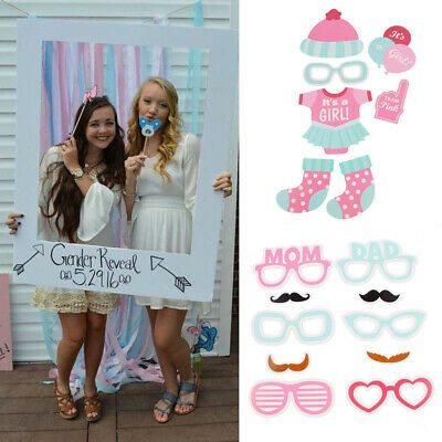 Baby Shower Photo Booth Props Little Boy and Girls New Born Party Decoration 3v9