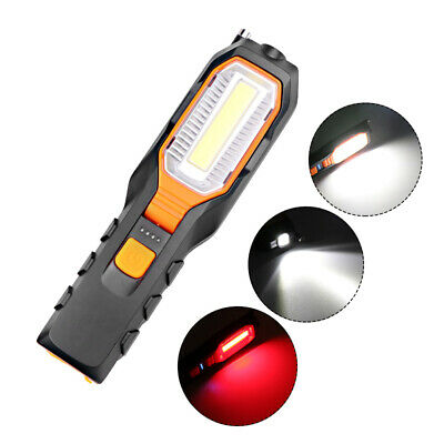 New LED COB Inspection Lamp Work Light Flexible Rechargeable 2500mah Magnetic