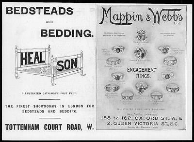 1899 Antique Print - ADVERTISING Mappin Webbs Heal Son  (100)