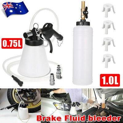 1L Air Brake Bleeder Kit Clutch Bleeding Vacuum Extractor Fluid Fill Adapters BZ