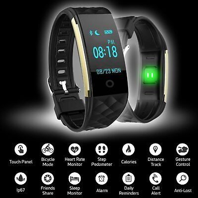 S2 Bluetooth Smart Watch Heart Rate GPS Monitor Bracelet Fitness Track Pedometer