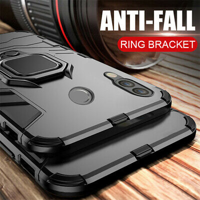 For Xiaomi Redmi Note 8 7 6 Pro 7 7A 6A 5 Magnetic Ring Holder Hybrid Case Cover