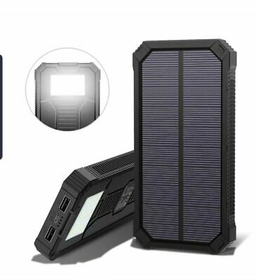 100000-500000 mAH Waterproof Solar Power Bank 2USB Battery Charger For Mobiles