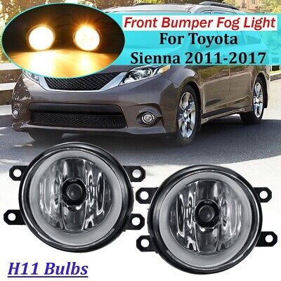 Pair Of Fog Light Lamps w/ Blubs LH&RH Side For Toyota Camry Yaris Lexus Scion