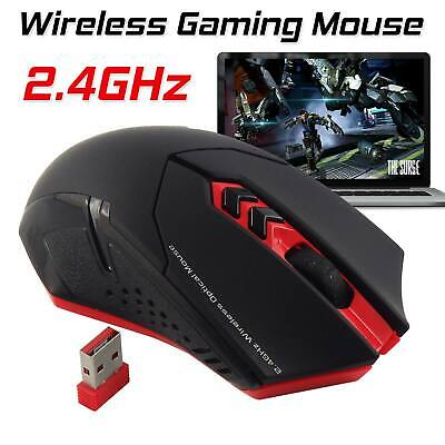UK 2.4GHz Wireless RED LED 2000DPI ET X-08 5 Buttons Usb Optical Gaming Mouse