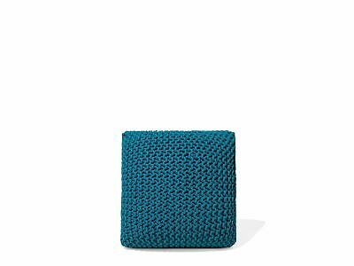 Large 60cm Knitted Pouffe Chunky Knit Foot Stool Cushion
