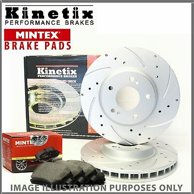 e66 For Fiat 06-11 Front Drilled Grooved Brake Discs Pads