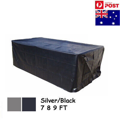 AU 7/8/9ft Outdoor Pool Snooker Billiard Table Cover Polyester Waterproof Fabric