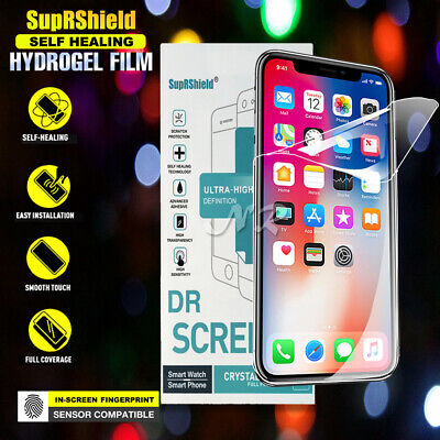 SupRShield Full Coverage Screen protector Film Apple iPhone 7 8 Plus X XS Max XR