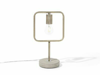 Industrial Vintage Cement Table Lamp Accent Geometrical Metal Brass Mundo