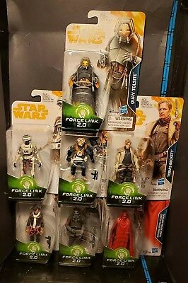 Star Wars Solo Force Link 2.0 Wave 4 Complete Quay Tolsite, Rio, Beckett, Etc