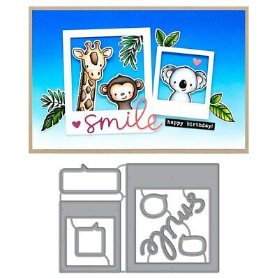 Language Photo Frame Metal Cutting Dies Stencils For DIY Scrapbooking Paper Card