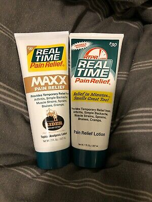 Real Time Pain Relief - Maxx Pain cream and Pain Relief lotion. 7oz