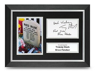 tommy Stack & Brian Fletcher Signed A4 Framed Photo Display Red Rum Autograph