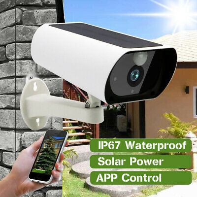 Outdoor Solar Battery CCTV Security Camera Wifi Wireless IR 1080P HD Night Cam