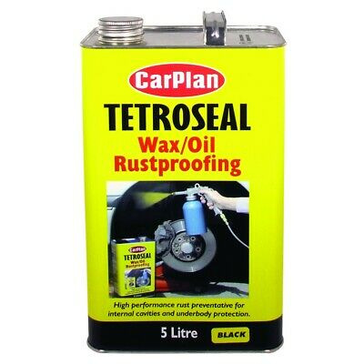 Carplan TETTWO006 5L Tetroseal Wax Oil Rustproofing 5 Litre Tin Black Rust
