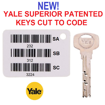 NEW Yale Superior PATENTED Keys Cut to Code