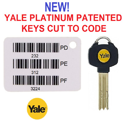 NEW Yale Platinum PATENTED Keys Cut to Code