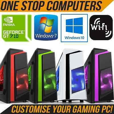 ULTRA FAST GAMING COMPUTER CORE i3 CORE i5 PC CUSTOMISE RAM HDD CPU WINDOWS LED