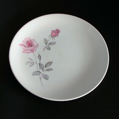 MYOTT CHINA LYKE DINNER PLATE PINK ROSES VINTAGE STAFFORDSHIRE ENGLAND crazing